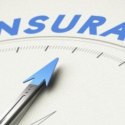 Arrow pointing to the word insurance on a scale