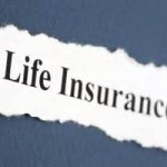 Paper with Life Insurance typed onto it