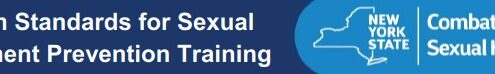 Minimum Standards for Sexual Harassment Prevention Training Banner